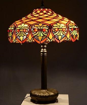 Michigan 18inch Tiffany Table Lamp: Amazon.co.uk: Lighting