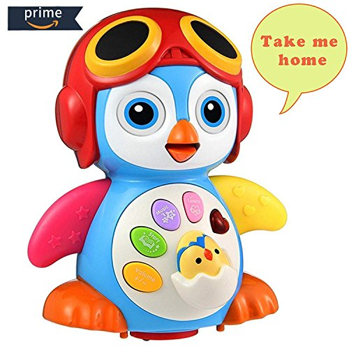 HOMOFY Baby Toys Super Fun Musical Dancing Penguin EQ& Intelligence Training Swing,Songing,Walking,Light,Tell a Story -New Toys for Girls and Boys Kids or Toddlers by HOMOFY