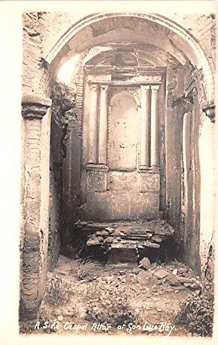 Side Chapel Altar San Luis Rey, California postcard ()