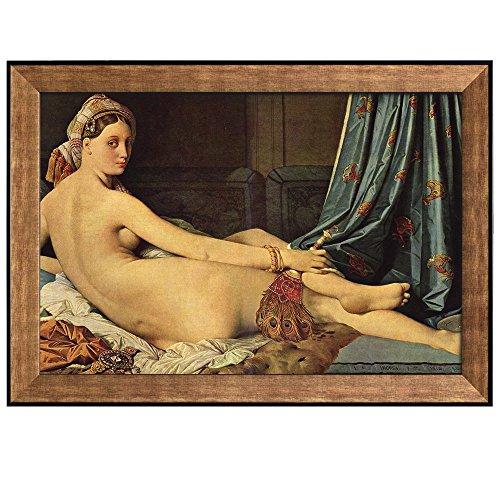 Portrait of Madame Paul Sigisbert Moitessier by Jean Auguste Dominique Ingres Framed Art
