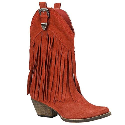 Very Volatile Women's Hillside Boot,Red,7 B US