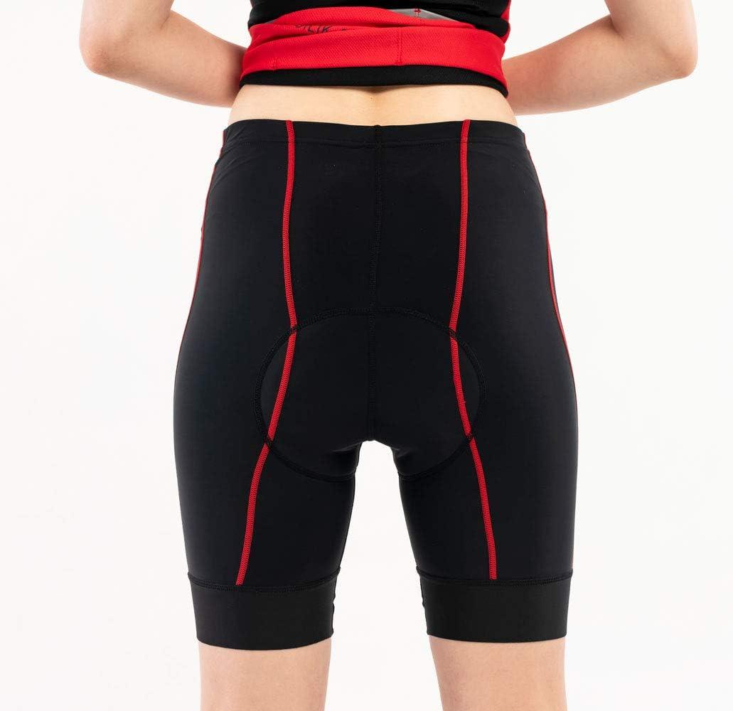 SILIK Pantaloncini Bici da Ciclismo Donna Intimo Traspirante Imbottito a Compressione