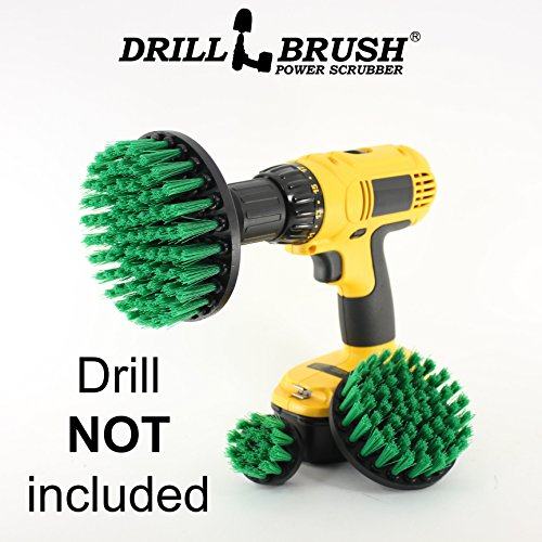 New Quick Change Shaft Power Rotary Cleaning Nylon Bristle Drill Scrub Brush by Drillbrush