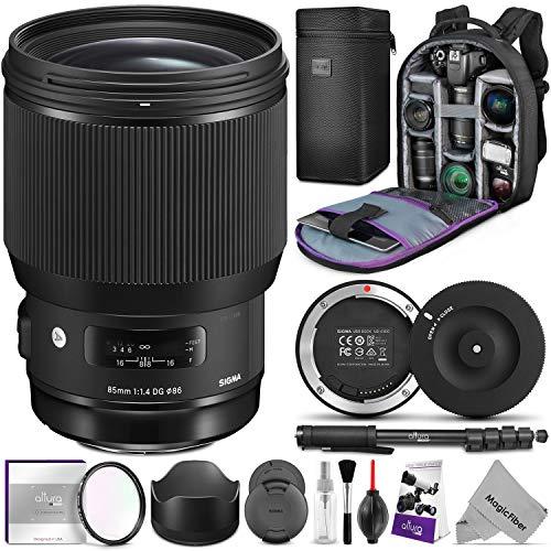Price comparison product image Sigma 85mm f / 1.4 DG HSM Art Lens for Nikon F Cameras w / Sigma USB Dock & Advanced Photo and Travel Bundle
