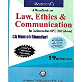 A HAND BOOK LAW, ETHICS & COMMUNICATION ( FOR CA INTERMEDIATE (IPC) (OLD SYLLABUS)