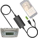 Car Stereo AUX Adapter, Auxiliary Cable Cord USB Charger for Toyota Corolla Camry Tacoma Tundra Sienna 4runner Prius Highlander Avalon Yaris Sequoia Venza Solara RAV4 Matrix Land Cruiser FJ Cruiser