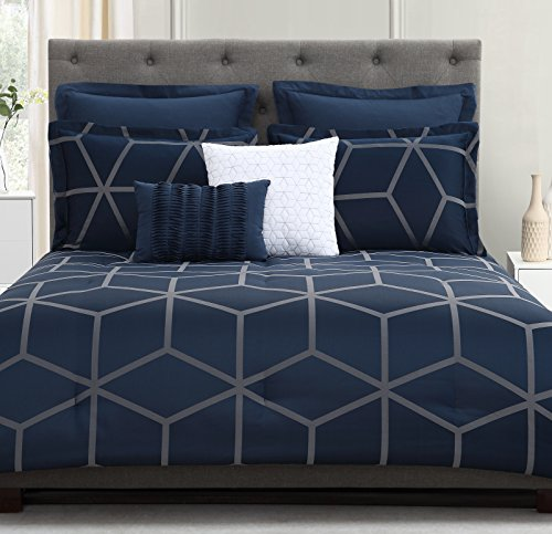navy and green quilt - 7