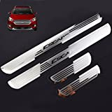 Car Stainless Steel Door Sill Scuff Plate for Ford ESCAPE 2014-2017