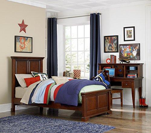 NE Kids Walnut Street Devon Panel Bed, Chestnut, Twin - Lifestyle Cherry Bed Set
