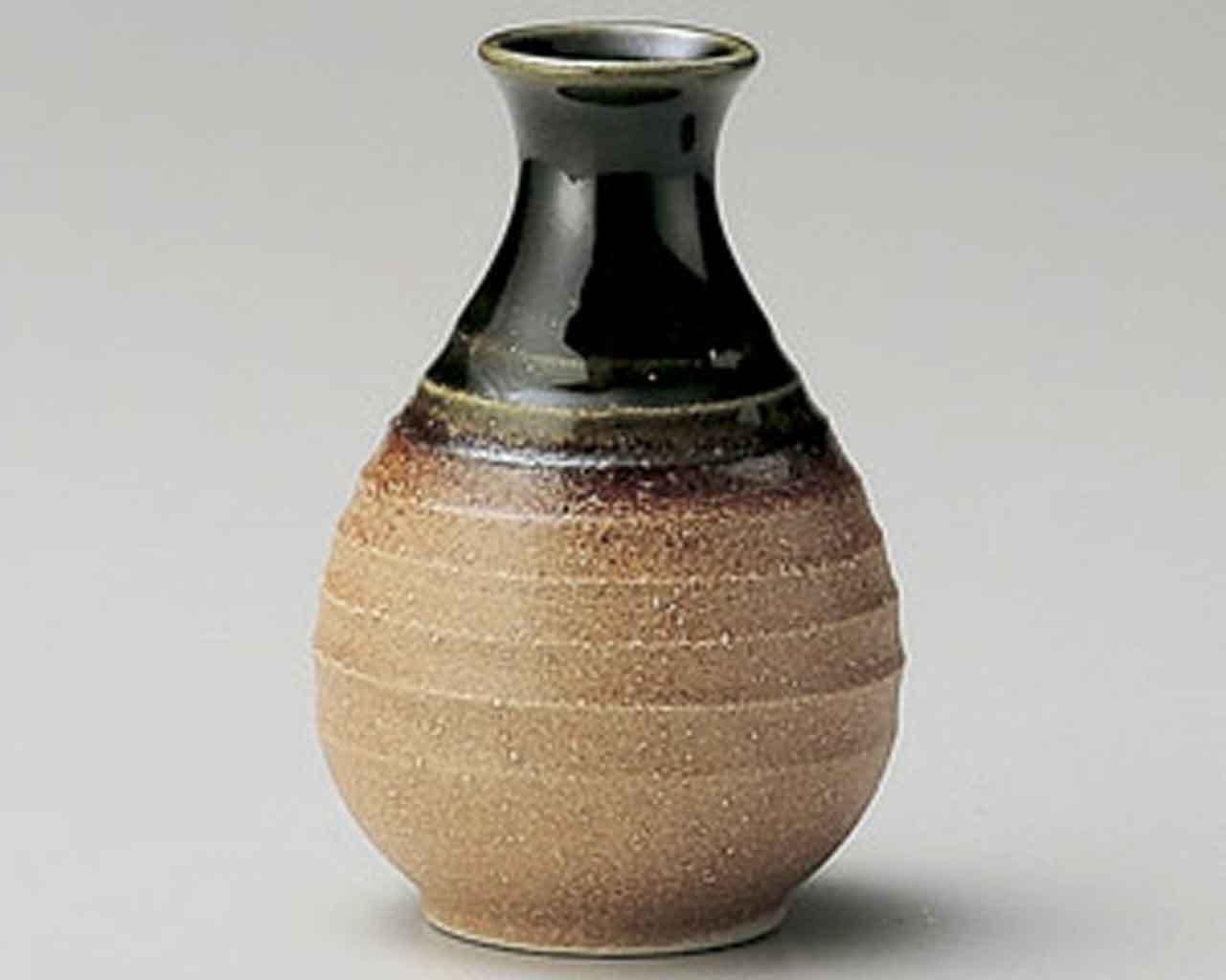 Iga Oribe 3.5inch Set of 5 Sake carafes Beige Ceramic Made in Japan