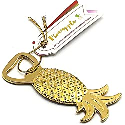Gold Pineapple Bottle Opener for Wedding Party Favor Set of 20