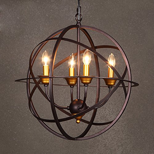 Small Iron Pendant Light - 9
