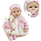 "Funny House 22"" 55cm Realistic Lifelike Handmade Reborn Baby Dolls Looks Real Baby Doll Butterfly Girl Soft Silicone Vinyl Toddler Baby Doll For Kids toy Christmas Birthday New Year Gift"