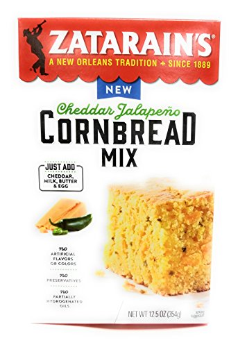 Zatarain's Cheddar Jalapeno Cornbread Mix - 12.5 Ounces, Pack of ()