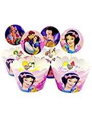 TaoQi 48 Stycken Cupcake Wrappers Paper Muffins Dessert Decorating Wrapping Ring Cake Topper Cake Topper Cupcake Liner Cake Ring