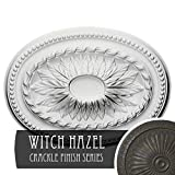 Ekena Millwork CM18SAWHC Saverne Ceiling Medallion, Witch Hazel Crackle