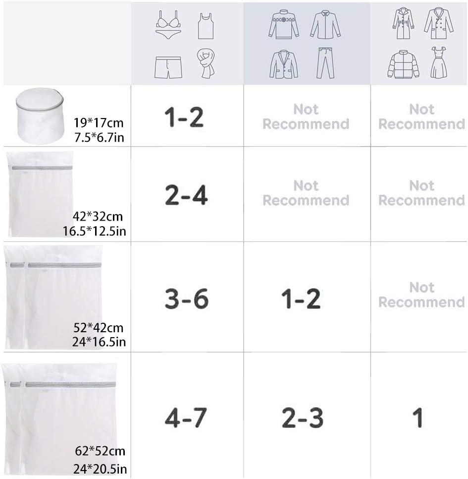 Wiederverwendbar Mesh-Rei/ßverschluss W/äsche Waschen Taschen f/ür Maschinenw/äsche Dessous Suntapower Set von 6 Mesh W/äsches/äcke Socken und Unterw/äsche,Grau Strumpfhosen