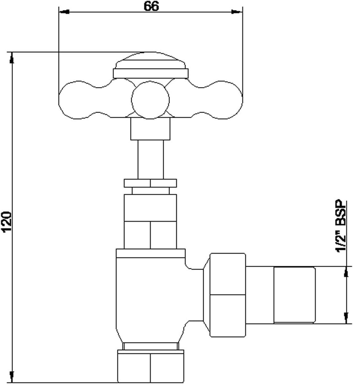 15 mm antikes Messing antikes Messing Home Standard Westminster Heizk/örperventile 1 Paar