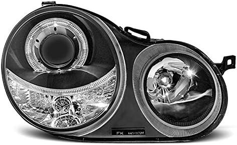 Shop Import Paire de Feux phares Polo 9N 01-05 Angel Eyes Noir 59