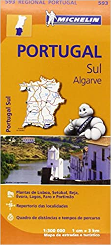 Portugal Sul Algarve Regional Map Michelin Regional Maps - Portugal map algarve region
