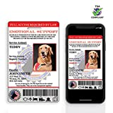 XpressID Holographic Emotional Support Animal ID Card Custom + Digital ID for Mobile Device | Registration to Service Animal Registry Included - QR Code Ready