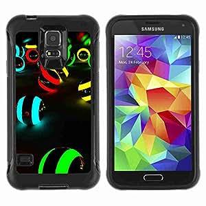 A-type Arte & diseño Anti-Slip Shockproof TPU Fundas Cover Cubre Case para Samsung Galaxy S5 V / SM-G900 ( Neon Colors )