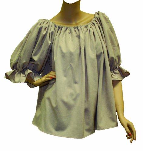Adult Lady Blouse Medieval Costumes - Alexanders Costumes Plus-Size Renaissance Ladies Blouse -Plus, Natural, X-Large