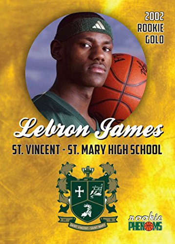Lebron James first Rookie Card St. Mary's High School Los Angeles Lakers RC