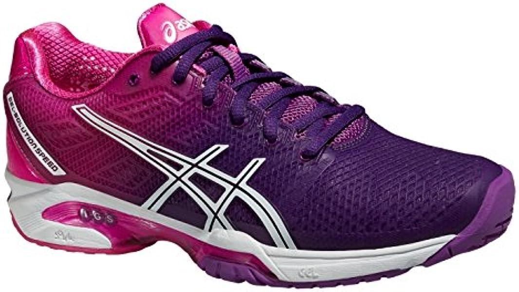ASICS Gel Solution Speed 2 Ladies Tennis Shoes, PurpleWhite