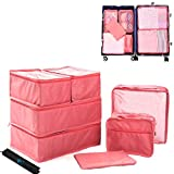 Cocoly 8 pcs travel Packing Cubes Luggage Packing Organizers with shoe bag