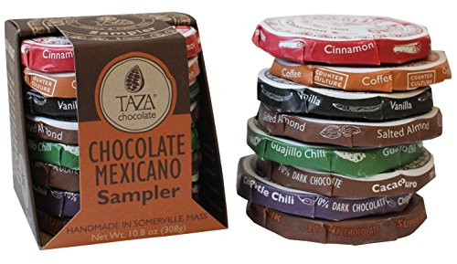 Traditional Hot Chocolate - Taza Chocolate | Mexicano Disc | Variety Pack | Stone Ground | Certified Organic | Non-GMO | 1.35 Ounce (8 Count)