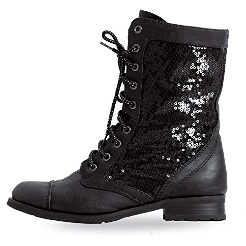 Gia-Mia Youth Combat Boot Black Youth 2 (Combat Child Boots)