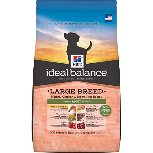 Hill's Ideal Balance Adult Large Breed Natural Chicken & Brown Rice Recipe Dry Dog Food, 30-Pound Bag