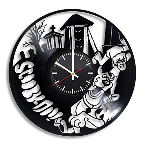 Scooby-Doo Vinyl Wall Clock, Scooby Doo Handmade Accessory Original Room Wall Decor Vintage Nursery Decoration Unique Present Gift Artwork Home Stuff Merchandise Item Party Supplies]()