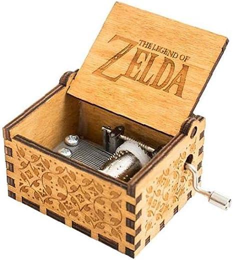 ZELDA Caja De Música Clásica De Madera Caja De Música Regalo De Cumpleaños De La Manivela Antiguo Clásico De Madera Tallado Musical Cajas Brown: Amazon.es: Bebé