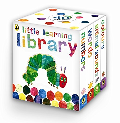 Little Learning Library: Animal Sounds; Words; Numbers & Colours (Set of 4 Books)