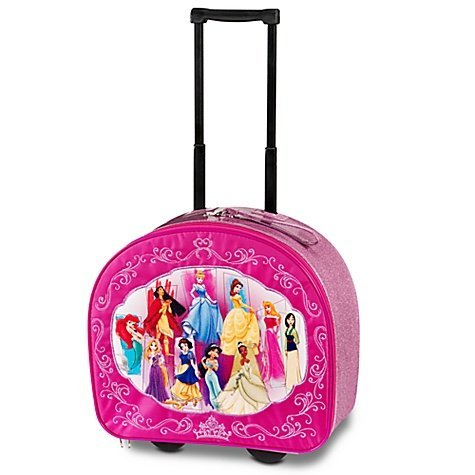 Disney Store Exclusive Multi Princess Rolling Deluxe Luggage