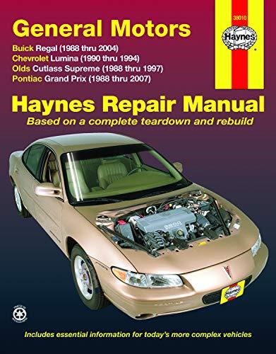 General Motors Buick Regal, Chevrolet Lumina, Olds Cutlass Supreme, Pontiac Grand Prix