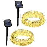 Tools & Hardware : OMorc LED Solar Powered String Lights, 100LEDs, 8 Modes, 33ft, Warm White(2 Pack)