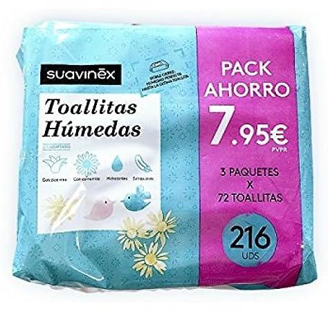 Suavinex Toallitas Infantiles 3x72 Unidades: Amazon.es: Belleza