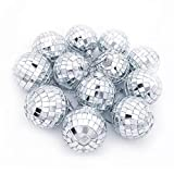 Youdao 12 pcs 1.8 inch Disco Ball Mirror Party Christmas Xmas Tree Ornament Decoration with Cosmos Fastening Strap (12)