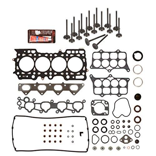 (Evergreen HSIEV4014 Head Gasket Set Intake Exhaust Valves Fits Honda Prelude 2.3L H23A1 DOHC 16V)