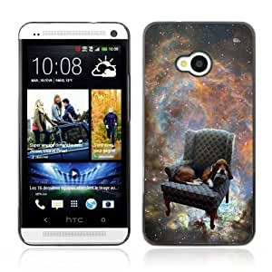 [Funny Space Dog ] HTC One M7 Case