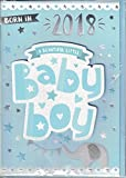 New Baby Boy Card ~ Born In 2018 A Beautiful Little Baby Boy ~ Card From Prelude Size 20cm x 14cm