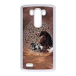 LG G3 Cell Phone Case White_Celtic Horse Layered Qaync