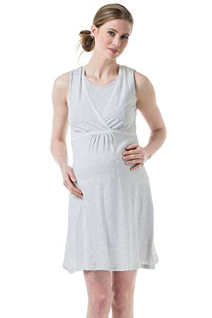 11d27fe693fba Spring Maternity Jane Maternity & Nursing Sleeveless Cotton Night Gown at Amazon  Women's Clothing store: