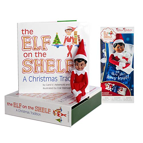 The Elf on the Shelf: A Christmas Tradition Girl Scout Elf (Brown Eyed) with Claus Couture Collection Scout Elf Slumber Set