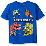 Dinotrux Little Boys' Short Sleeve T-Shirt Shirt, Royal, Small/4