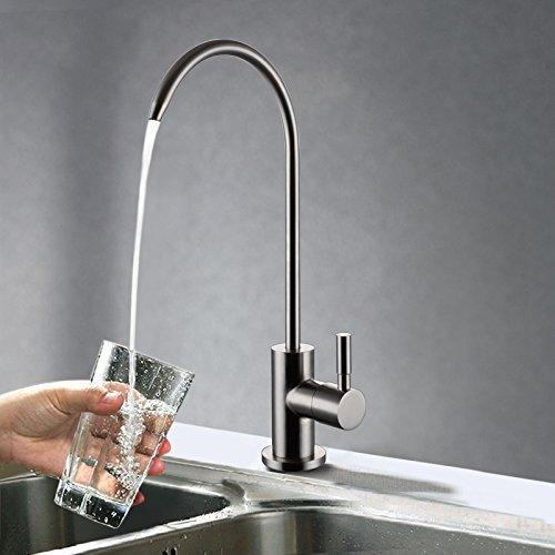 CZOOR Bleifreier Getränke Hahn Trinkwasser Filtration System 1 4-Zoll-Schlauch Edelstahlfilter Küche direkt trinken Wasserhahn