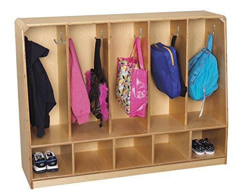 Childcraft Korners For Kids Toddler 5-Section Bench Coat Locker Aluminum Locker Room Benches